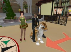 Moonstone & me riding on her tiger