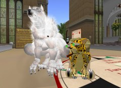 The cute werewolf Talee & me with my new cheetah avatar
